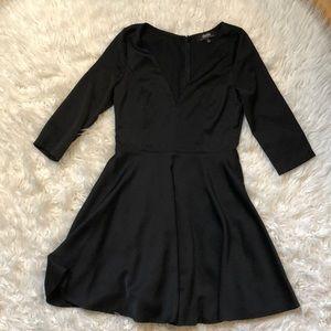 Lulu's Deep V Neck Mini Dress